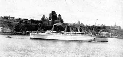 Empress of Britain at Quebec before WWII