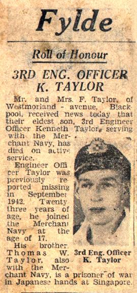 Ken Taylor's Obituary