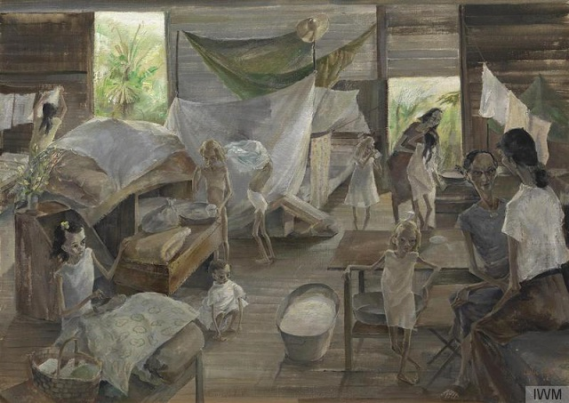 Syme Road Camp, Singapore, by Leslie Cole